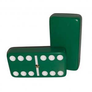 Green Double 6 Dominoes with Spinners