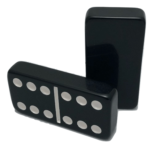 Black Double 6 Dominoes