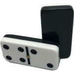 Two-Tone Black/White Double 6 Dominoes