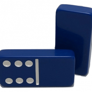 NS: Dark Blue Double 6 Dominoes without Spinners