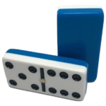 Two-Tone Blue/White Double 6 Dominoes