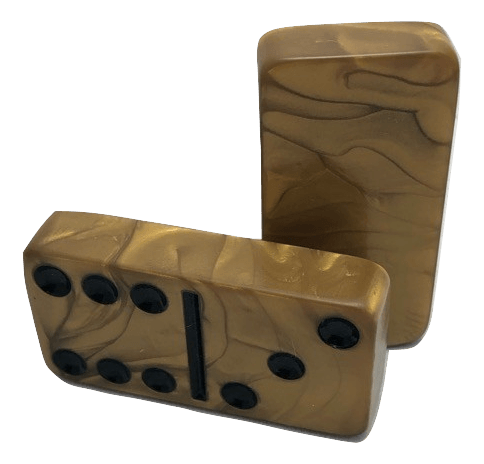 Gold Marbleized Dominoes