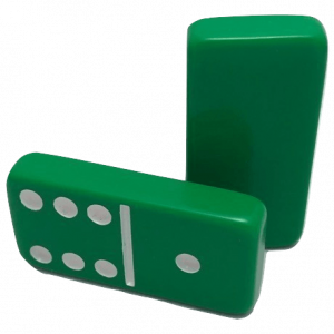 Green Double 6 Dominoes without Spinners