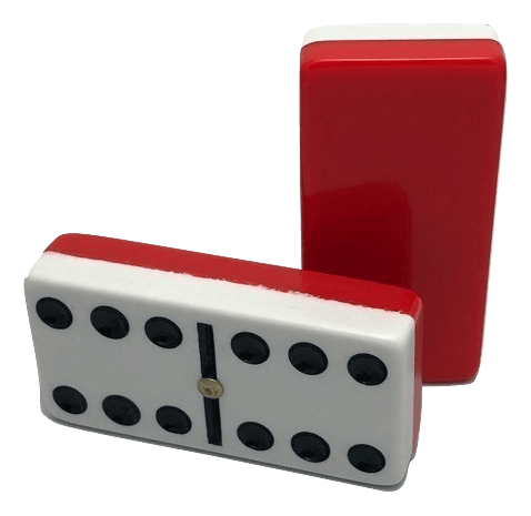 Two-Tone Red/White Double 6 Dominoes