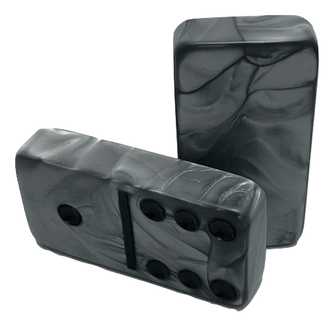 Marbleized Silver Dominoes