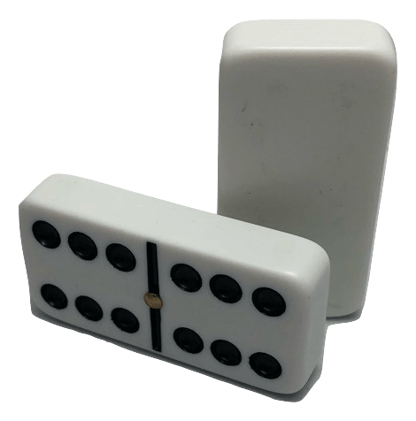 White Double 6 Dominoes