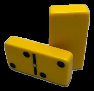 Yellow Double 6 Dominoes