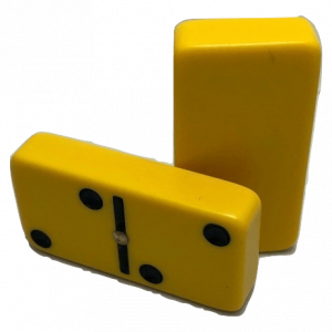 Yellow Double 6 Dominoes with Spinners