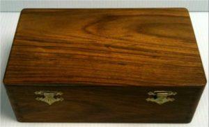 Double 9 wood box