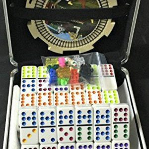 White Double 12 Dominoes Professional Sized in Aluminum case