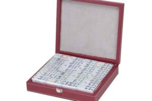 Double 12 Dominoes in Leather case