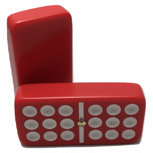 Red Double 9 Dominoes with Spinners