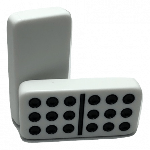 White Double 9 Dominoes without Spinners