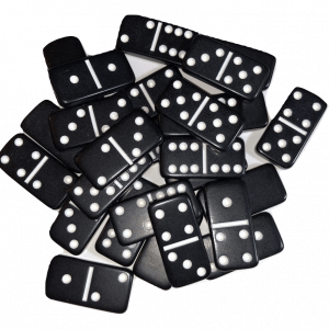 Mini Black Double 6 Dominoes