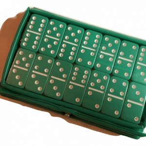 Mini Green Double 6 Dominoes