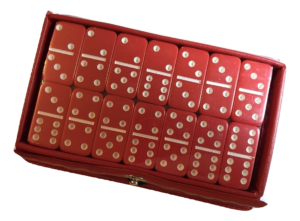 Mini Red Dominoes
