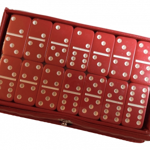 Mini Red Double 6 Dominoes