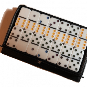 Mini White Double 6 Dominoes