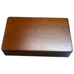 Double 6 Walnut Box with counter and pegs