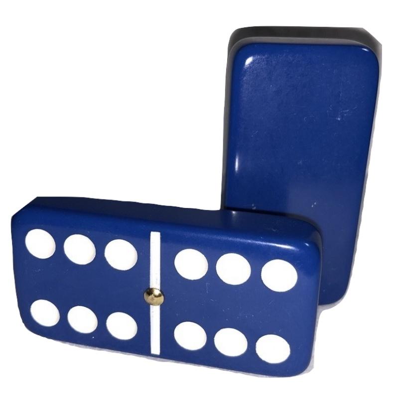 Dark Blue Double 6 Dominoes