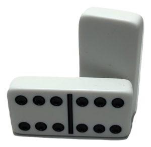 White Double 6 Dominoes