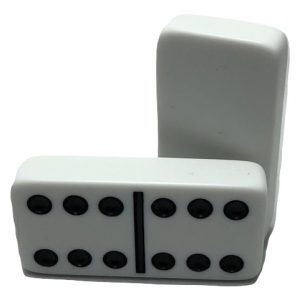 White Double 6 Dominoes without Spinners