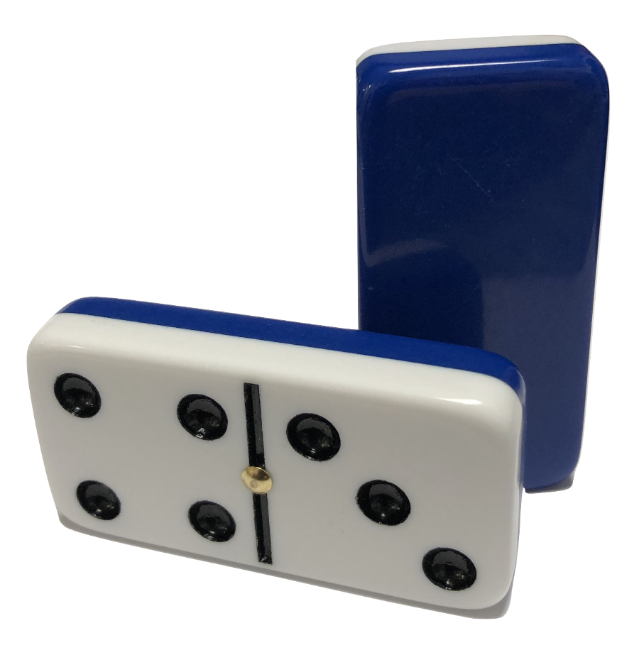 dark blue / white dominoes