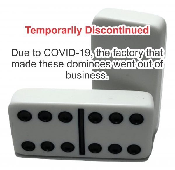 temporarily discontinued white non-spinner dominoes