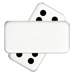 Single Random Numbered Domino with Engraving