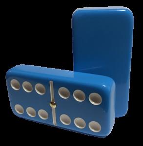 Light Blue Double 6 Dominoes