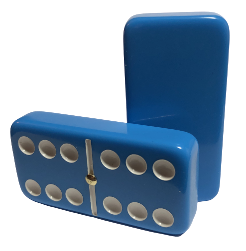 Light Blue Double 6 Dominoes