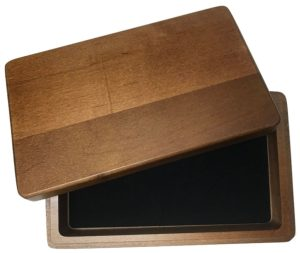 Walnut Box for Double 6 Dominoes