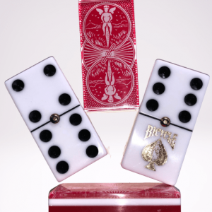 Red Bicycle Double 6 Dominoes with Spinners