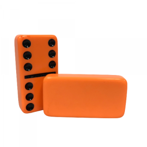 NS: Orange Double 6 Dominoes without Spinners